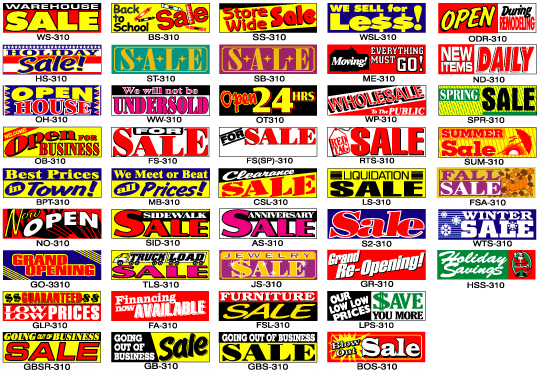 Sales Banners Banners Warehouse Sale