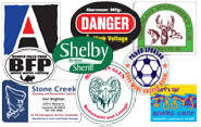 Custom Stickers, decals, crack and peel, die cut, stickers, 1 color, 2 color, 3 color, full color, custom Click for more info prices and to order.